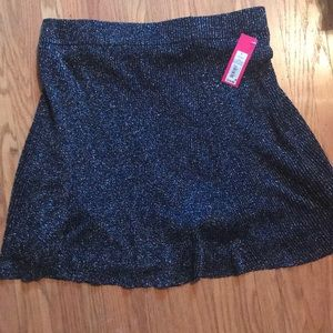 black skirt with silver sparkles from xhileration